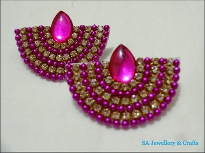 DIY simple and easy earring at home under two minutes. paper earrings