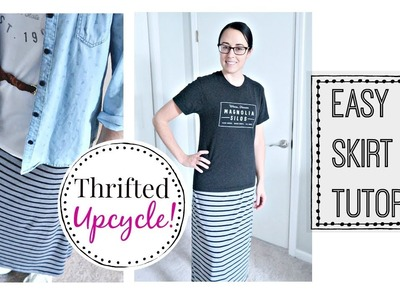 ✂️ DIY SKIRT TUTORIAL | MODEST FASHION | THRIFTED UPCYCLE! ????