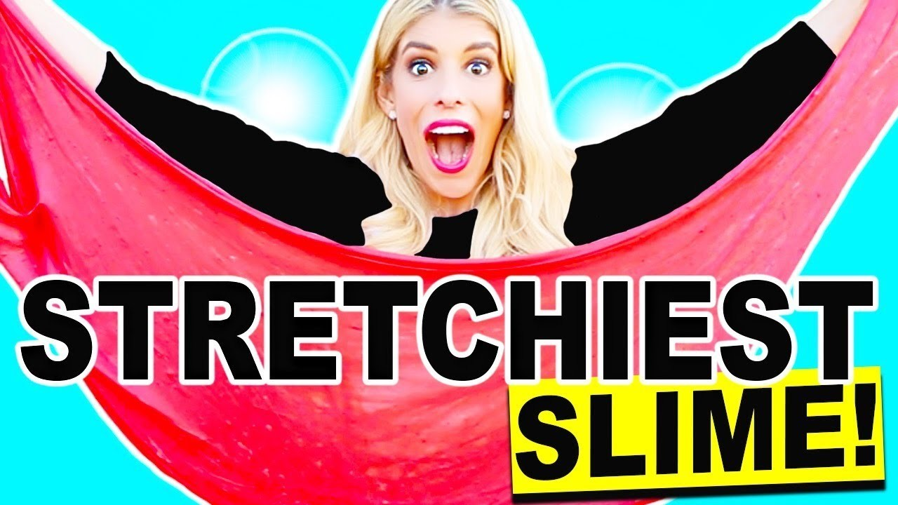 DIY Stretchiest Slime In The World Valentine's Day Challenge! Learn How Make Stretchy Slime