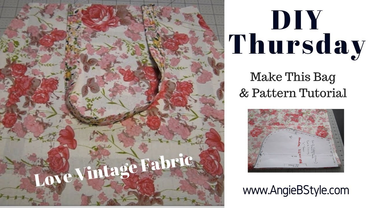 DIY Thursday  |  Create This Large Tote Bag  |  with  Pattern Tutorial