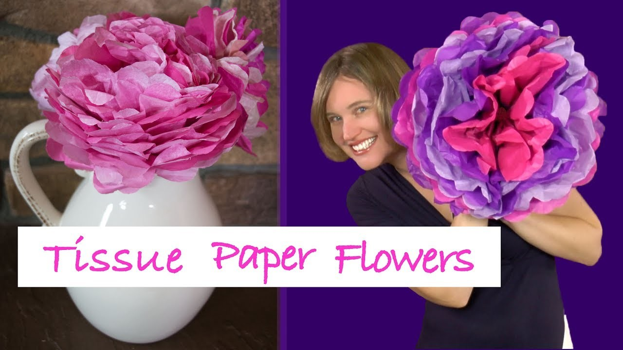 DIY Tissue Paper Flower Tutorial | Fun Craft Project for Kids