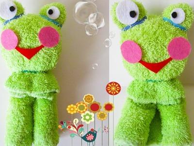 DIY Towel Folding Frog | Washcloth Animals Tutorial | Baby Shower Ideas