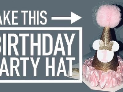 DIY Tutorial Minnie Mouse Birthday Party Hat