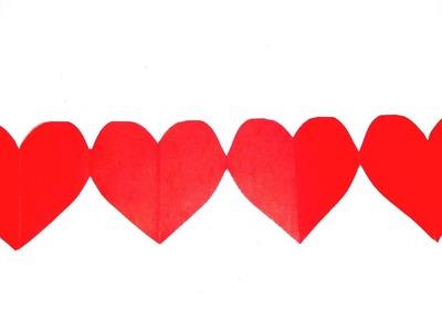 DIY Tutorial - Paper Cutting Art. Kirigami : Desain Hati untuk dekorasi hari valentine