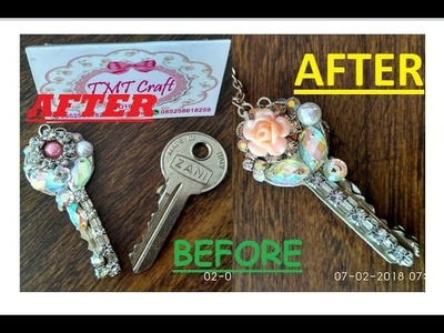 DIY.TUTORIAL RECYCLE KEY BECOME BEAUTIFUL NECKLACE