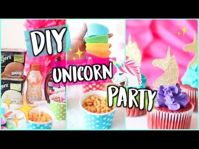 DIY Unicorn Party + Ice Cream Sundae Bar! Treats, Hacks + Decor 2018