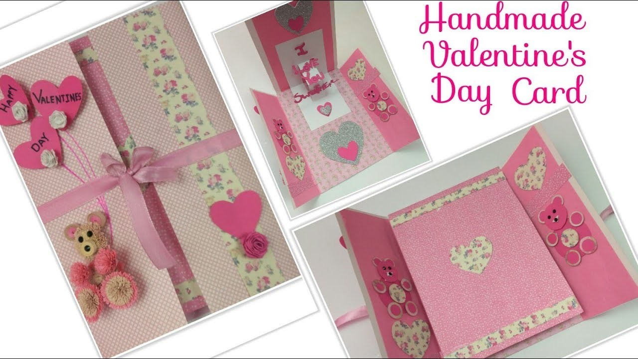 DIY Valentine Cards Handmade 3D Pop Up Greeting Card For Boyfriend Valentines DayBirthday Love