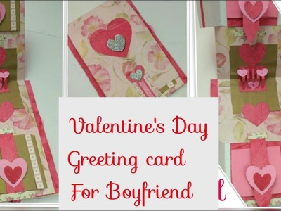 DIY Valentine Cards,Handmade Love Card,Handmade Cards for Boyfriend.Him,Pop Up Greeting Card