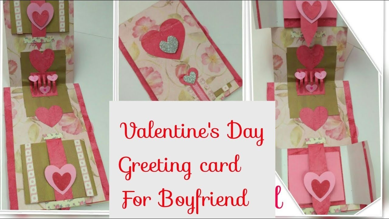 Diy Valentine Cards Handmade Love Card Handmade Cards For Boyfriend