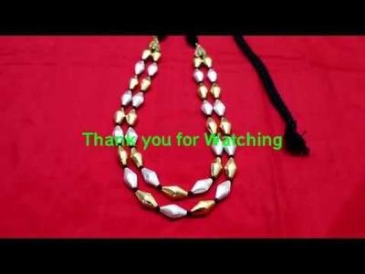 Dolki Beads Neckset Tutorial DIY