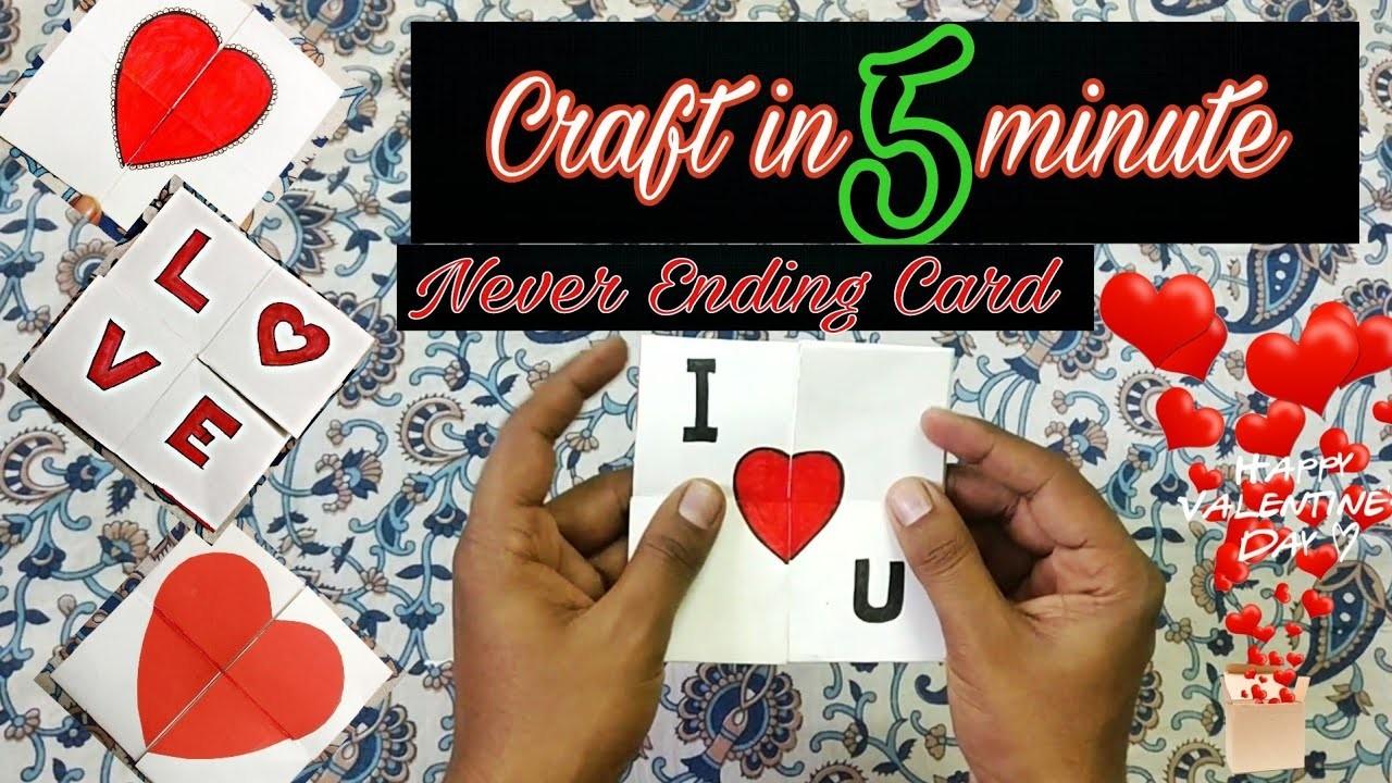 Easy Crafts Never Ending Card Diy Infinte Folding Card 5