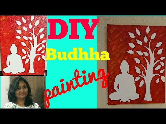 Easy DIY painting,budhha painting on canvas 2018,painting for begainners
