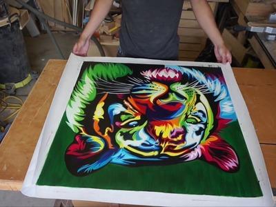 Framing A Funky Tiger (DIY Canvas Frame)