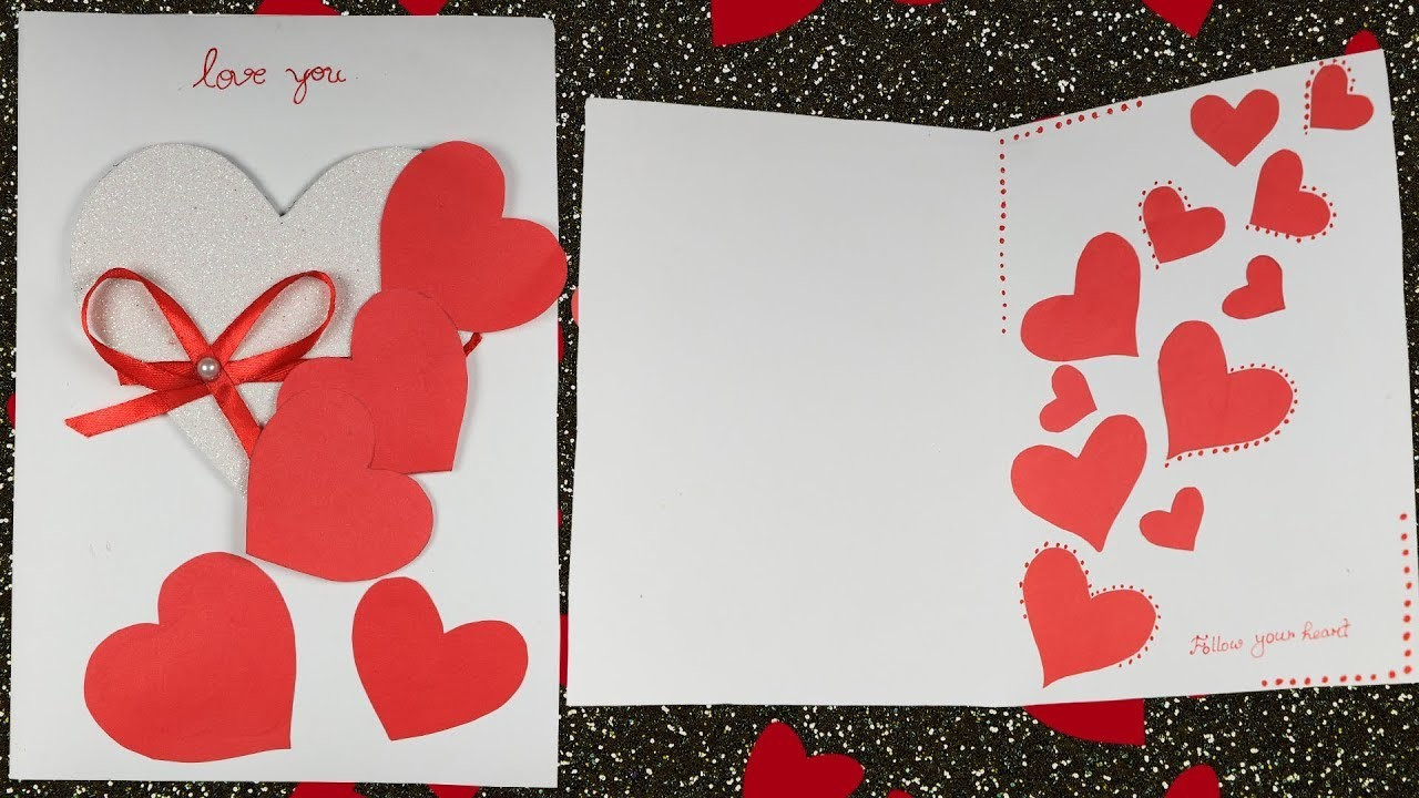Greeting cards how to make a very easy and simple greeting card for greeting cards how to make a very easy and simple greeting card for valentines day m4hsunfo