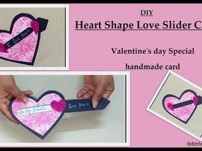 Heart shape love slider card for valentines day | diy handmade card tutorial by vinita|
