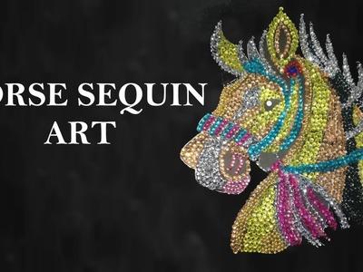 HORSE SEQUIN ART   DIY   Creative Pinky