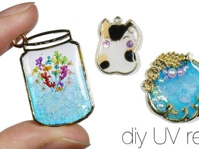 How to DIY Watch me Uv Resin: Lucky Cat, Flower Jar, Jellyfish Sea.Ocean Bezel Charms
