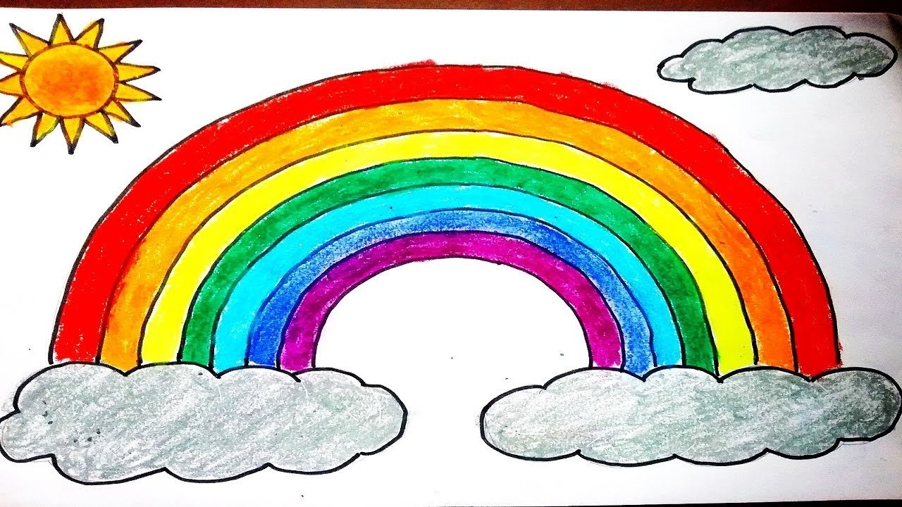 How to draw Rainbow easy for kids. DIY How to make simple ...