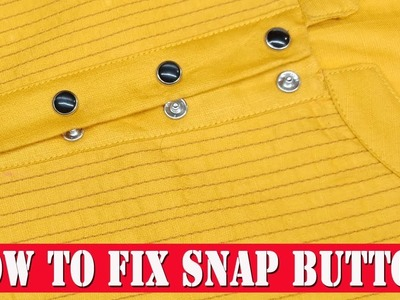 How to fix Snap Button ( Press Button ) DIY hindi tutorial for beginners