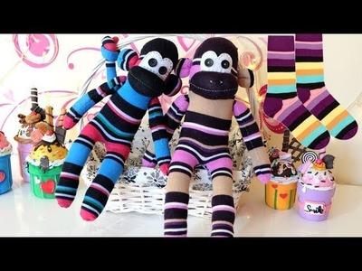 How to Make a Sock Doll, DIY monkey dolls from socks