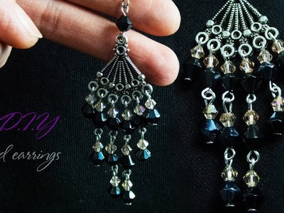 How To Make Designer Earrings | Earrings DIY | Step By Step | Jewellery Making