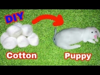 How to make doggy with cotton at home in hindi | GK Craft