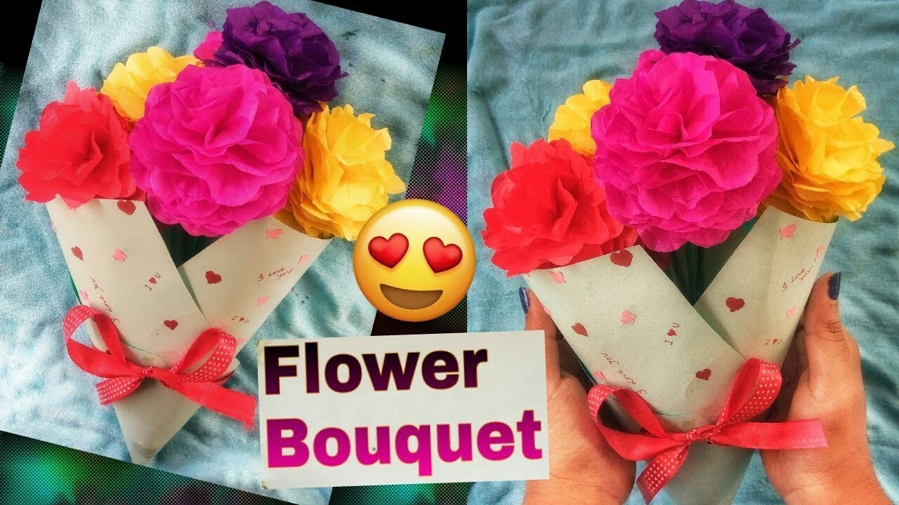 How to make flower bouquetpaper flowers bouquet diy flower bouquet izmirmasajfo