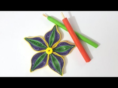 ✅ How to make quilling tool at home - Slotted Tool