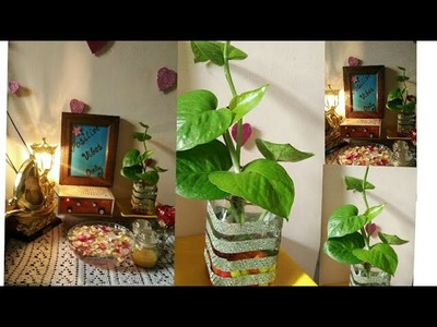 How to make vase.flower pot at home