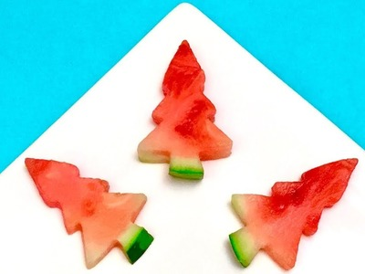 How to Make Watermelon Christmas Trees. Party Idea, DIY, Tutorial, Cooking Tips, Fir