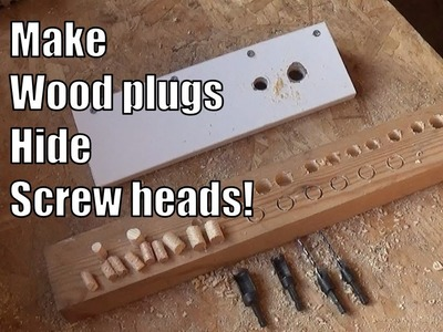 How to make wood plugs and hide screw heads. Plug cutter tutorial.