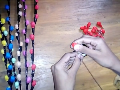 Make stick flower with shoping bag 2018 [How to] |Sj tutorials|