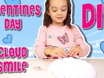 MAKING GIANT VALENTINES DAY FLUFFY CLOUD SLIME | DIY SLIME TUTORIAL