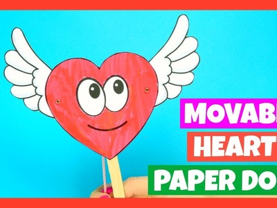 Movable Heart Paper Doll Valentines Craft for Kids
