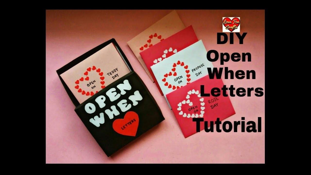 Open When Letters Tutorial | DIY - Valentine's Day Gift Idea