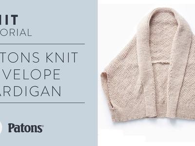 Patons Knit Envelope Cardigan