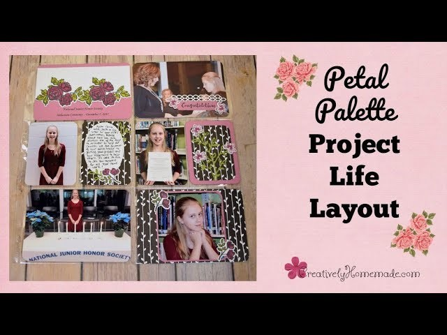 Pretty petal palette diy project life cards pocket for Pretty project