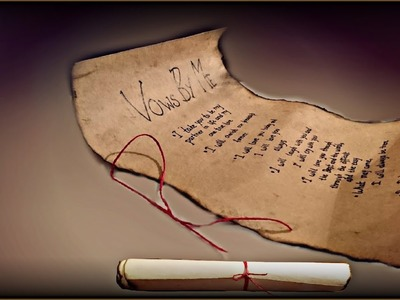Promise Day Idea | Ancient Vows Letter | How To Make Old Paper | Valentine's Week | Valentine's Day