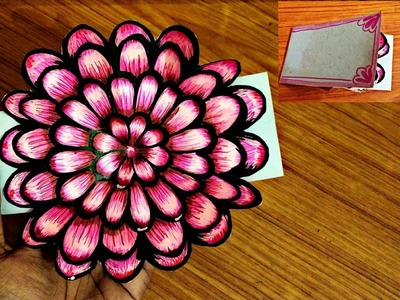 Small flower POP UP card Crafts-Handmade Craft