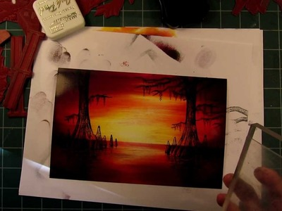 Stampscapes 101: Video 25A.  Cypress Sunset.  Part 1 of 3.