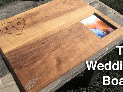 The Wedding Board | Making a Wooden Guest Book