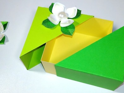 Unique DIY gift box with lid. ANY SIZE you want. EASY tutorial.