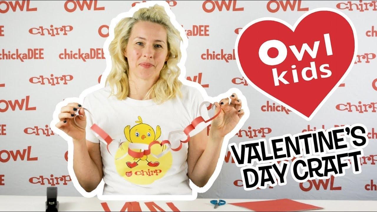 Valentine's Day Craft: Make a Paper Chain Heart ❤️
