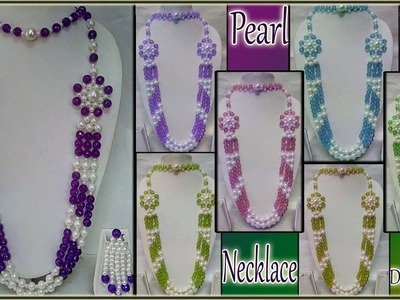 #112 How to Make Pearl  Beaded Necklace (Unique) || Diy || Jewellery Making