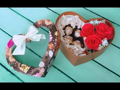 ABC TV | How To Make Rose Paper Flower Gift Box For Valentine's Day - Craft Tutorial