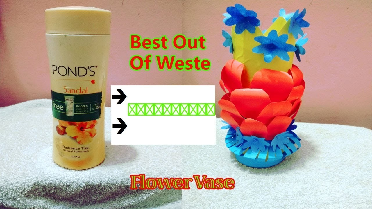 Best out of waste flower vase how to make easy best out of for To make best out of waste