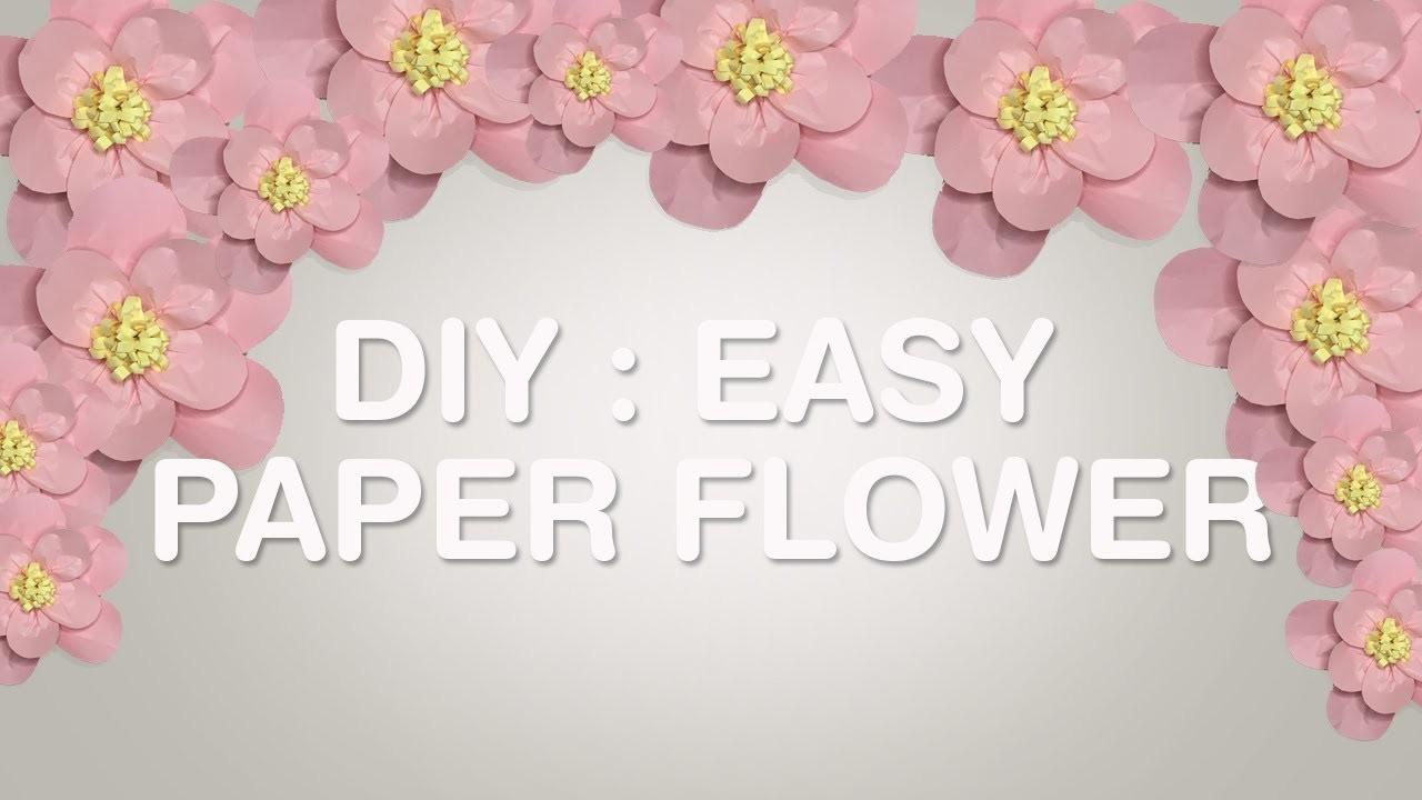 Big Paper Flowers Tutorial Easy