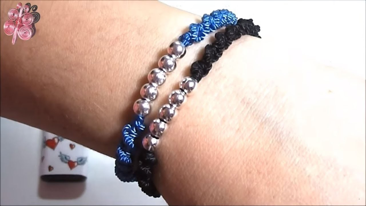 Bracelets ???? how to make bracelets with thread and beads step by step manillas pulseras diy string