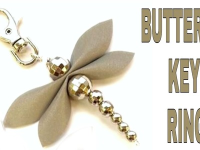 Diy Butterfly || diy Butterfly key chain.ring by pearls