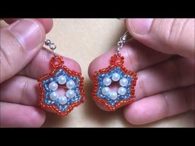 DIY - Hexagon Beaded Earring - Pearl and Beads